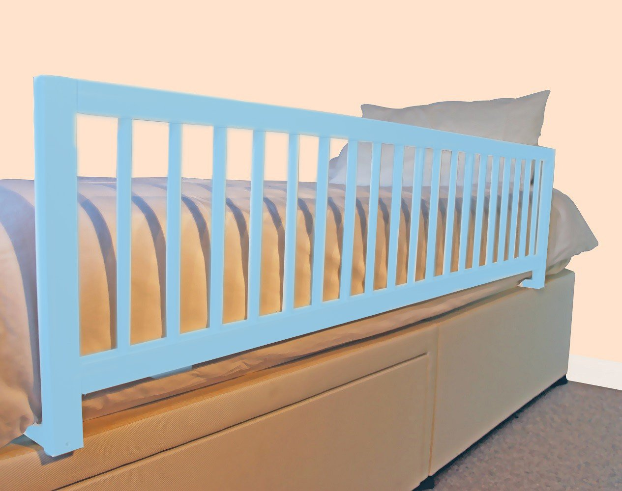 Safetots - Paracolpi per letto, extra largo, in legno, colore: blu Safetots Limited ST-EWWBRB