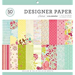 "Designer Paper Pad Delilah, 12"" x 12"""
