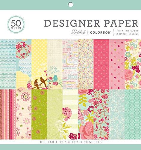 colorbok-68230b-designer-paper-pad-delilah-12-x-12