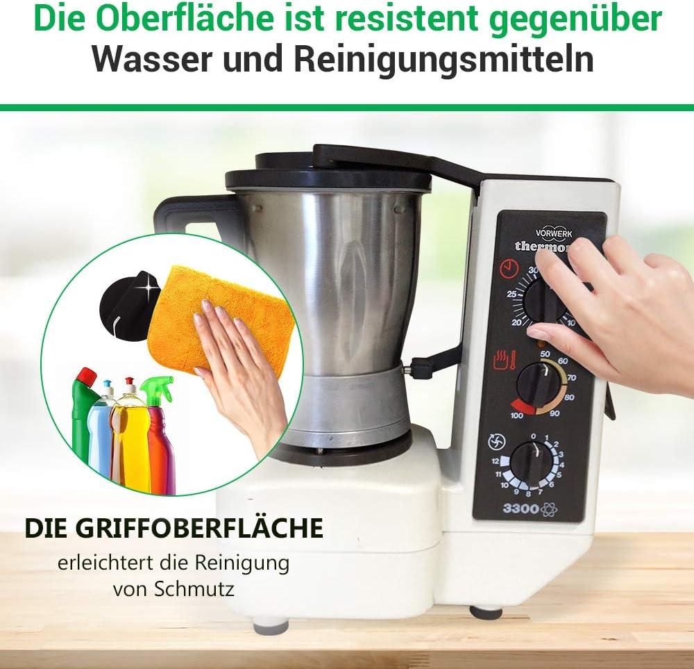 Mordaza con eje para robot de cocina Vorwerk Thermomix/® TM 3300 di/ámetro de 32 mm color negro