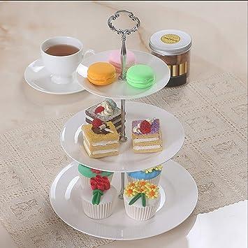 Mai tray Snack-Stand, 3-stufige Obstteller Einfache weiße Moderne ...
