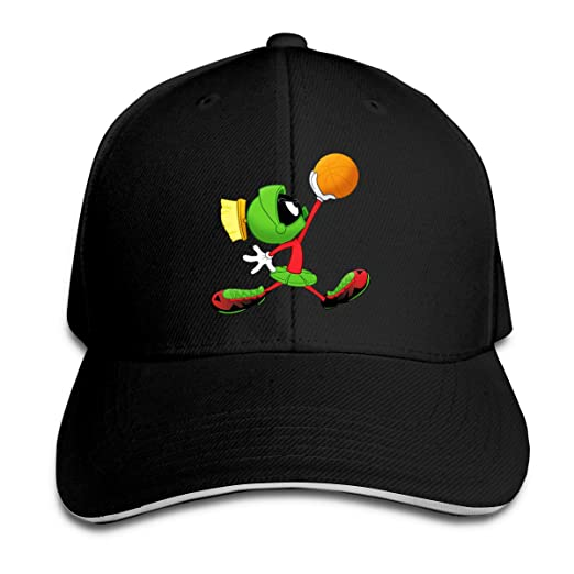 8a9f240a Corrine-S Marvin The Martian Play Basketball Outdoor B-Box Cotton Hat  Adjustable Black at Amazon Men's Clothing store: