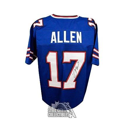c3ff9c0876f Josh Allen Autographed Jersey - Custom Blue COA - JSA Certified - Autographed  NFL Jerseys