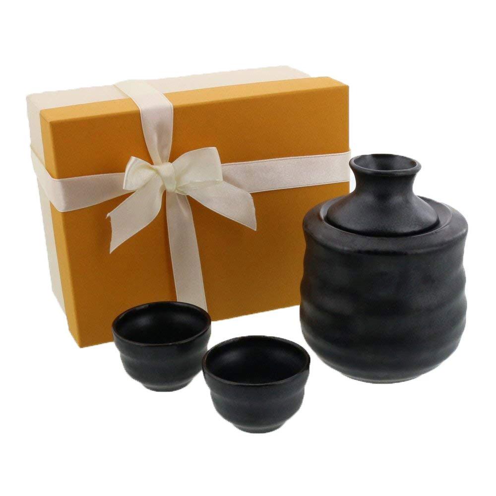Zen Table Japan Japanese Sake-Ware Tokkuri/Sake Cup Gift Set Special Sake Vessel Keep Cool, Keep Warm Special Gift, Father's Day, Birthday, Anniversary - Made in Japan