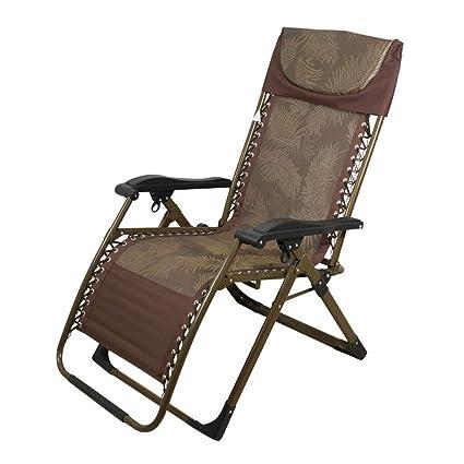 Amazon.com: Silla plegable HUYP silla casa siesta cama cama ...
