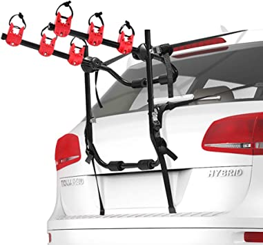 Trunk Mounted 2 Bike Rack Carrier for Car Hatchback Bicycle Car Racks fits Sedan