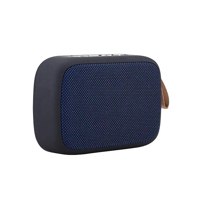 NIUQY Moda portátil Personalizado Portátil Inalámbrico Bluetooth Estéreo Tarjeta SD Altavoz FM Adecuado para Smartphone Tablet Lapt Característica ...