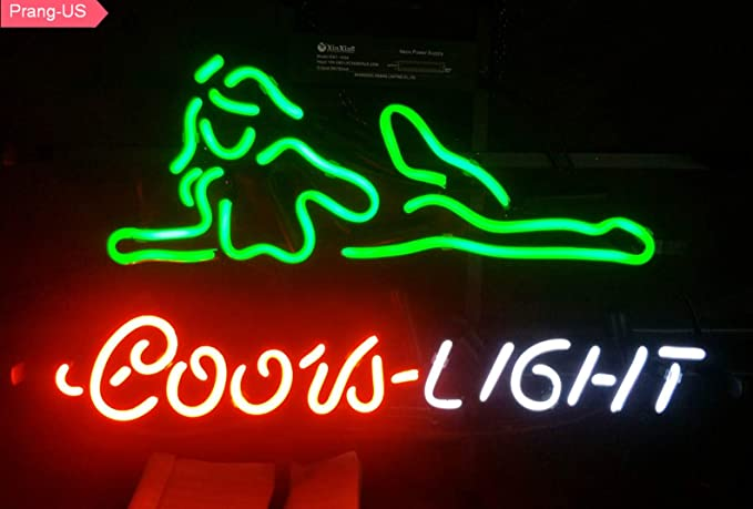 Amazon Com Prang Us Coors Light Girl Neon Signs 17 14 Inch Real