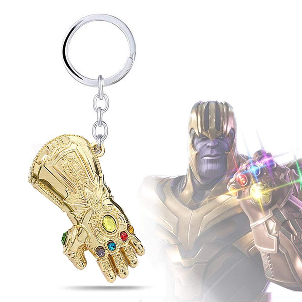AOLVO Llavero Personalizable de Marvel Studios Infinity War Infinity Gauntlet Thanos con Llavero