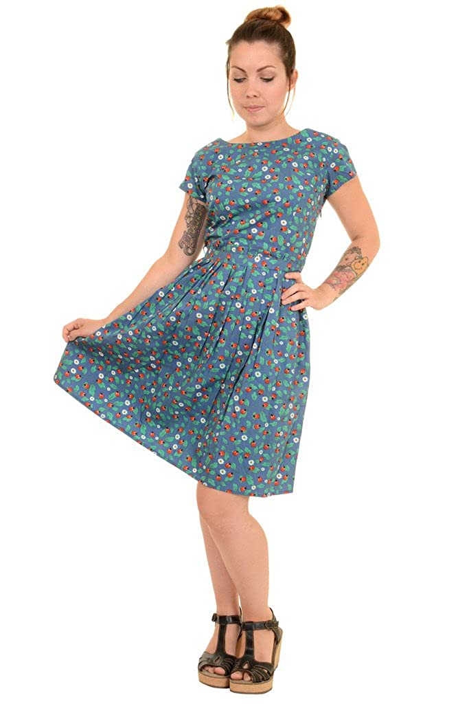 1960s Style Dresses, Clothing, Shoes UK  60s Retro Ladybird Tea Party Dress Run & Fly Ladies 50s £34.99 AT vintagedancer.com