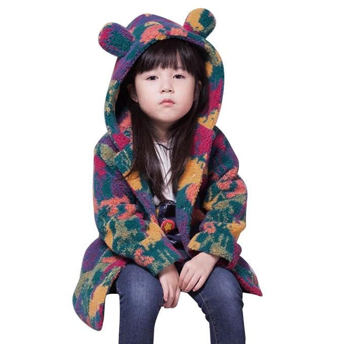 AIMEE7 Ropa niña Chaqueta niña Abrigo, Niño pequeño Niños Niñas Ropa de Piel sintética Camuflaje Abrigo con Capucha Chaqueta Outwear 2-7 años: Amazon.es: ...