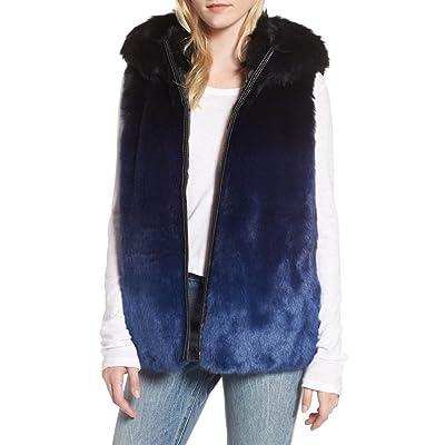 (ハウルー) HEURUEH レディース トップス ベスト・ジレ Ryan Ombre Faux Fur Hooded Vest [並行輸入品]