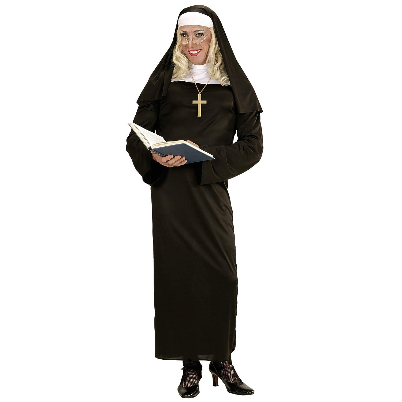 WIDMANN Disfraz de Monja recatada para Mujer Talla Grande - XL