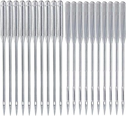 Agujas para máquina de coser, 50 agujas redondas para máquina de ...