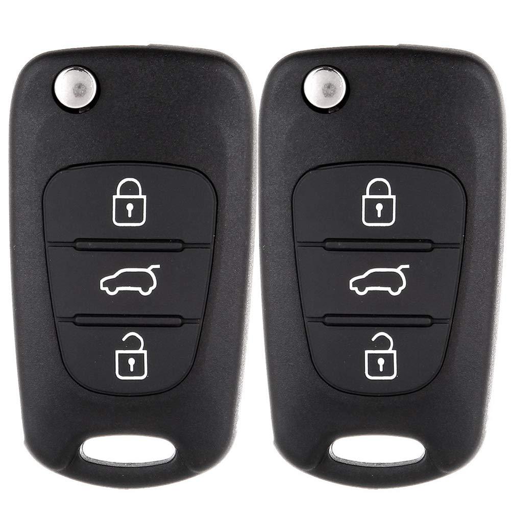 Aintier Smart Key Keyless Entry Remote Compatible for 07-08 Kia Rondo 07-13 Kia Rio Pilot Key Fob Replacement for 2107601306 1X Key Fob Case