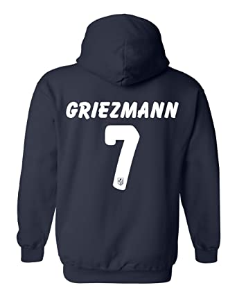 5687bbe23 Tcamp Atletico Madid Shirt Antoine Griezmann  7 Jersey Men s Hooded  Sweatshirt at Amazon Men s Clothing store