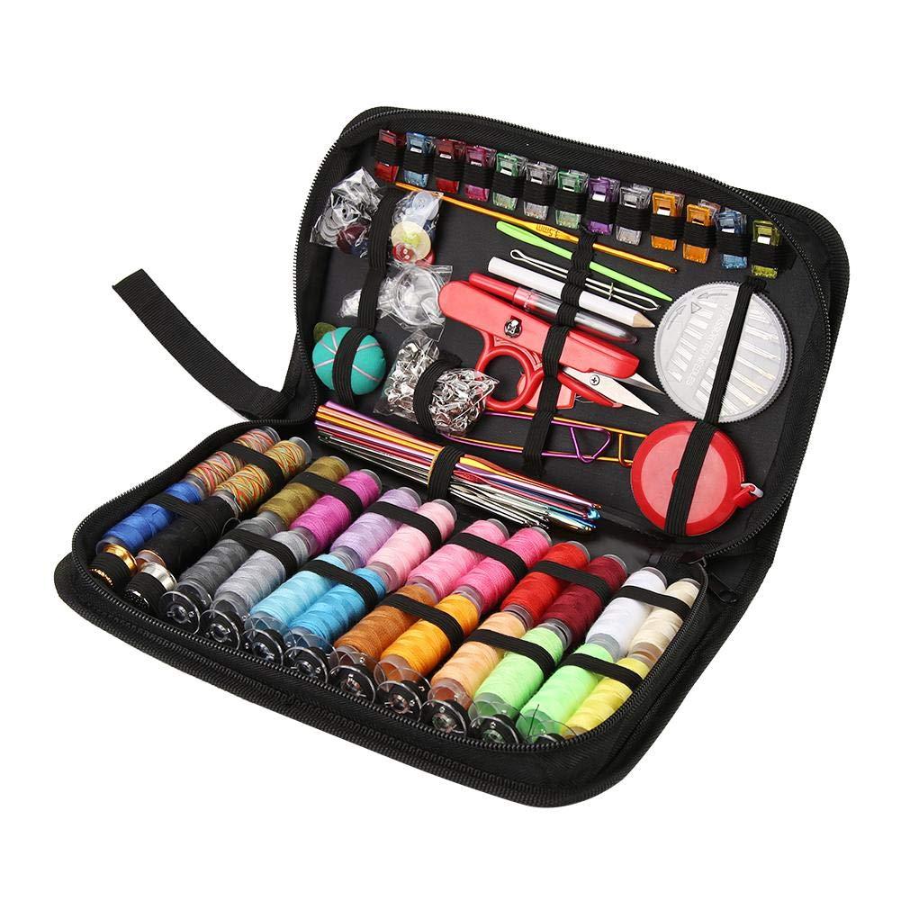 Crochet Hooks Set,282pcs/Set Portable Travel Sewing Box Kitting Needles Thread Stitching Kit