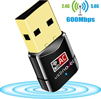 Usbnovel 600Mbps Dual Band 2.4G WiFi Adapter