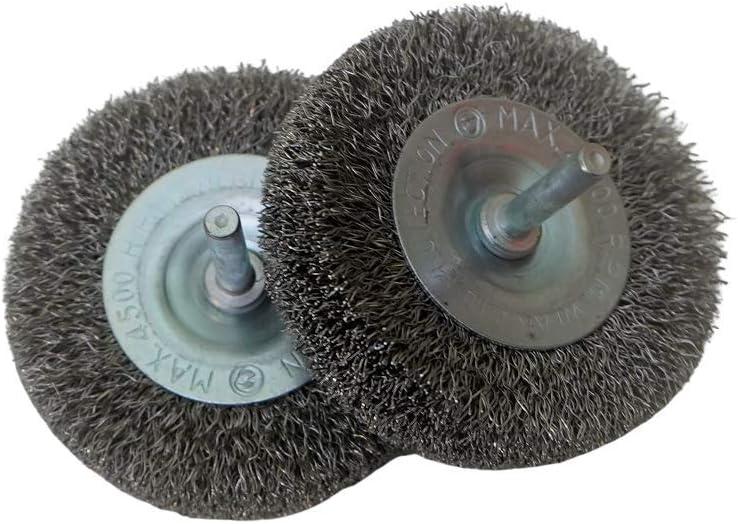 2 unidades Cepillo circular de alambre limpieza acero inoxidable 75x20