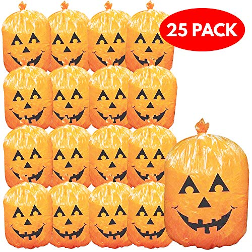 THE TWIDDLERS 25 Pack Halloween Leaf Bags - Ideal for Halloween Parties, Decoration - Halloween Decor & Props]()