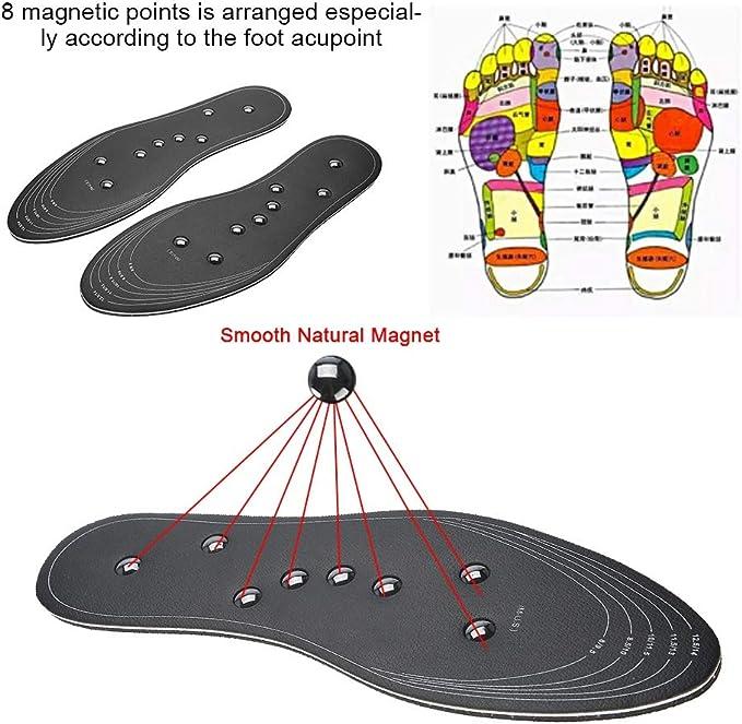 L Magneti per terapia magnetica premium assistenza sanitaria massaggi plantari per piedi scarpe per uomo//donna comfort pad magneti solette 41-46