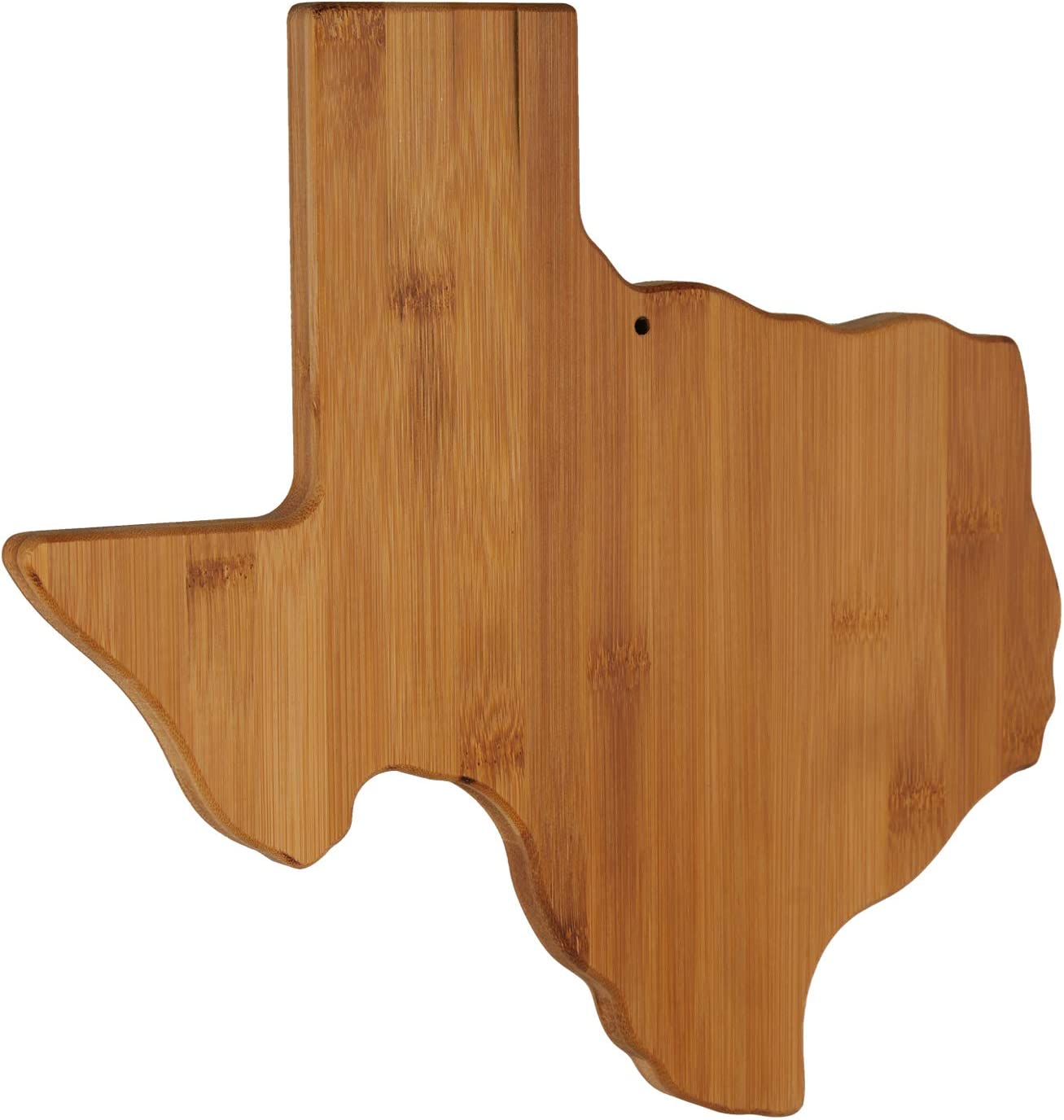 Texas state shaped bamboo shaped cutting board. Click through to find Humor, Gifts for Mamas and Grads + Books to Keep You Company!