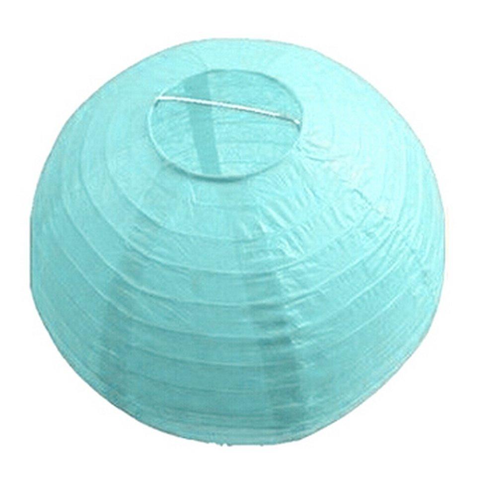 Bleu clair Pour d/écorer un festival ou un mariage Boule lanterne en papier fabriqu/ée /à la main Dimart