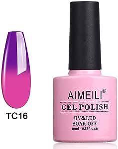 AIMEILI Soak Off UV LED Temperature Colour Changing Chameleon Gel Nail Polish - Cosmos (TC16) 10ml