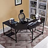 Soges 59X59 inches Large L-Shaped Desk Computer Desk Multifunctional Computer Table 4 Colors