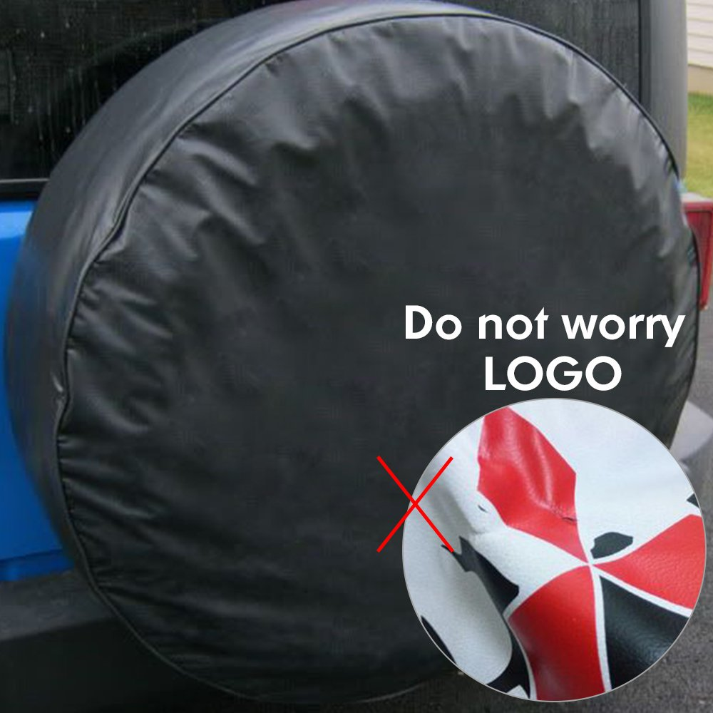 Gplusmotor 15 black Spare Wheel Tire Cover Covers Fit For All Car Universal