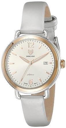 Swiss Eagle Analog Silver Dial Women's Watch - SE-9087LS-TTRG-03
