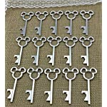 100 Antique Skeleton Key Bottle Opener Silver Wedding Favor Bridal Shower Gift Steampunk Decoration Birthday Party Alice in Wonderland 6