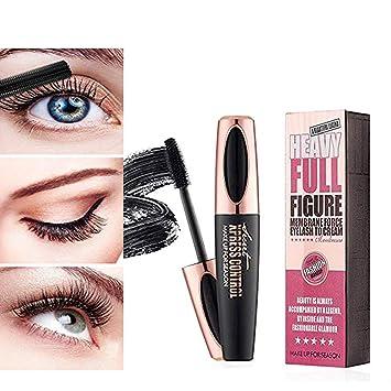 6ad2f3a2312 Amazon.com : 4D Silk Fiber Eyelash Mascara Waterproof Extension Makeup  Black Cold Kit Eye Lashes set (1) : Beauty