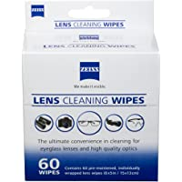 (60 count) - New ZEISS Pre-moistened Lens Cleaning Wipes Clean Eyeglasses, Cell Phones, Cameras (60 count)