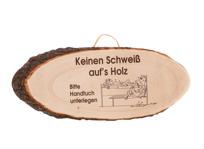 eliga RindenscheibeKeineinSchweiß aufs Holz 34 x 19 cm