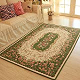 MeMoreCool Cotton Blending Woven Pastoral Style Living Room Carpet,Exquisite Jacquard Bedside/Bedroom/Coffee Table...