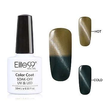 Elite99 3D Cat Eye Temperature Changing Color Soak Off UV LED Gel Nail Polish Lacquer 79022