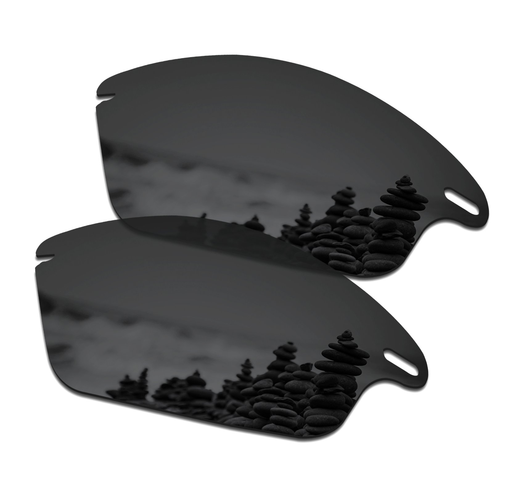 SmartVLT Men's Stealth Black Replacement Lenses for Oakley Fast Jacket Sunglass by SmartVLT