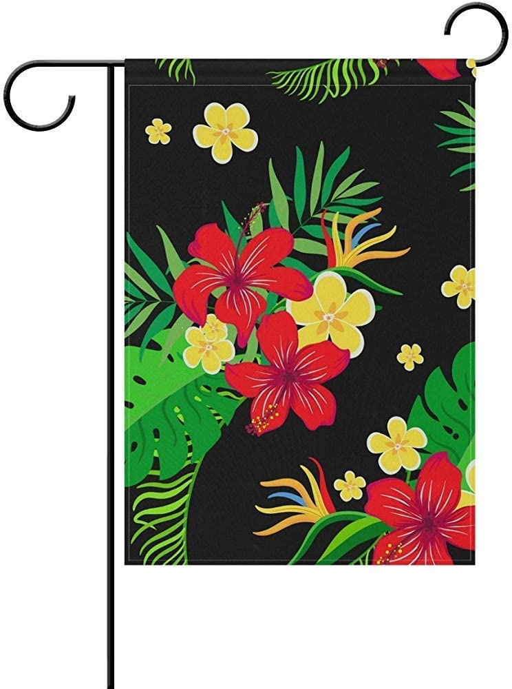 Not Applicable Bandera de jardín de jardín de Doble Cara, Flores exóticas, Negro, decoración de Jardines de Interior y Exterior (12