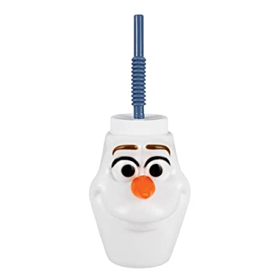 Frozen 2 Birthday, Olaf Plastic Sippy Cup, Party Favor, 17.6 Oz.: Toys & Games