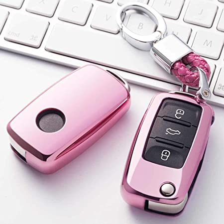 Rosa Car Keyless Entry Key Cover Fall Für Vw Volkswagen Elektronik