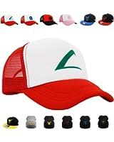 Pokemon Cosplay Hat, Beanie, PopCrew™ [Embroidered Team Trainer Hat]