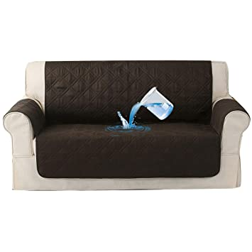 Strange Forcheer Waterproof Couch Cover Sectional Sofa Slipcover For Living Room Non Slip Polyester Fabric Protect Furniture Leather Away From Pet Accident Machost Co Dining Chair Design Ideas Machostcouk