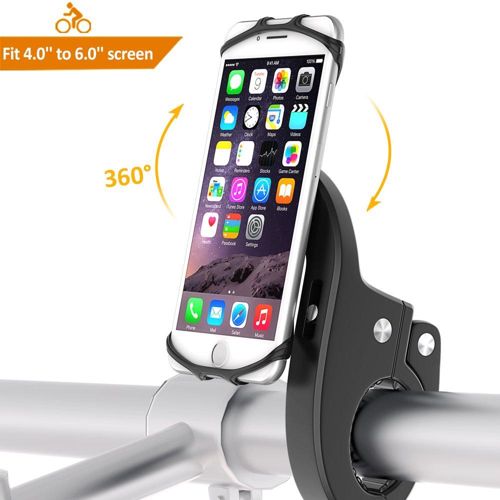 Soporte Móvil Bici, Babacom Soporte Teléfono Universal Manillar de Silicona Anti Vibración para Bicicleta Motocicleta, Ideal para iPhone XS ...