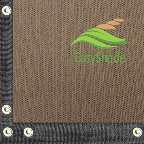 EasyShade 95 Heavy Duty Beige Sunblock Shade Cloth Taped and Grommets UV 20ft Wide 20 x 10