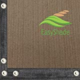 EasyShade 95% Heavy Duty Beige Sunblock Shade Cloth Taped and Grommets UV(20ft Wide) (20 X 30)