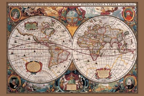 Amazon 17th century world map poster print world globe amazon 17th century world map poster print world globe posters prints gumiabroncs Image collections