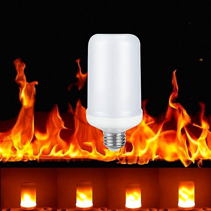 5 opinioni per Buybay, 1 luce LED, effetto candela vera, lampadina decorativa effetto fuoco, a