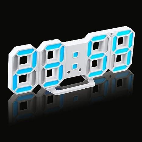 cocal práctica mesa escritorio noche pared Digital LED reloj alarma reloj 24/12 horas pantalla