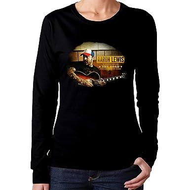 Amazon.com: Camiseta de manga larga para mujer Aaron The ...